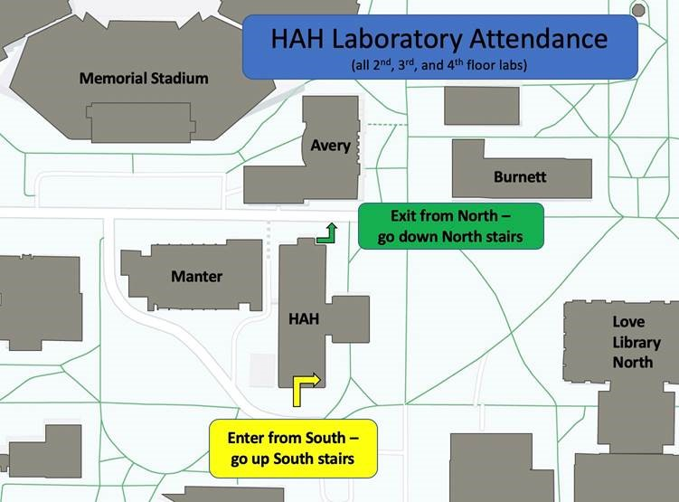 Egress plan for laboratories