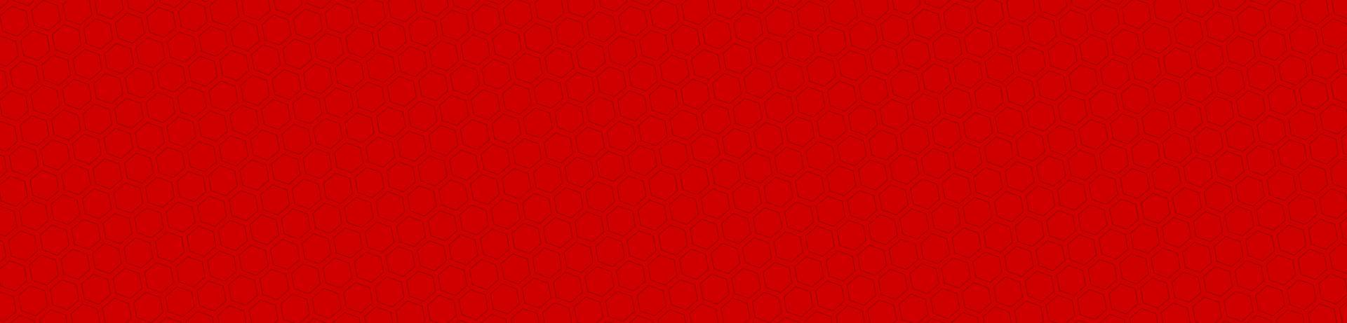 Red hexagonal pattern